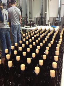 Bottling, Cork and Caging At AC Golden
